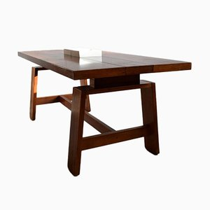 Mid-Century Italian Modern Mahogany Dining Table by Silvio Coppola for Bernini