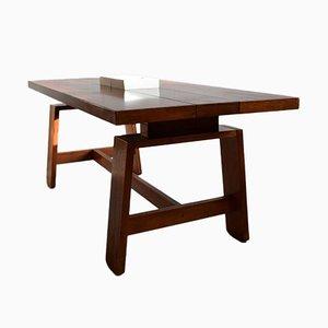 Table de Salle à Manger Mid-Century Moderne en Acajou par Silvio Coppola pour Bernini, Italie