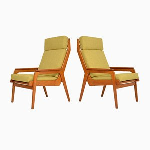 Vintage Dutch Teak & Oak Armchairs, 1960s, Set of 2