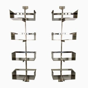 Modular Wall-Mounted Shelving System by Vittorio Introini for Saporiti, 1960s, Set of 2
