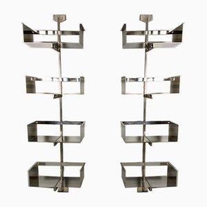 Modulares wandmontiertes Regalsystem von Vittorio Introini für Saporiti, 1960er, 2er Set