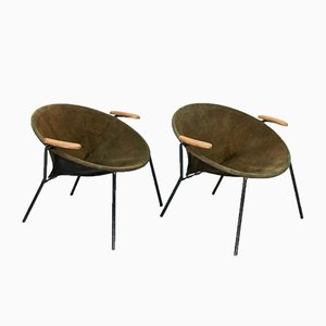 Balloon Lounge Chairs by Hans Olsen for Lea Design, 1960s, Set of 2
