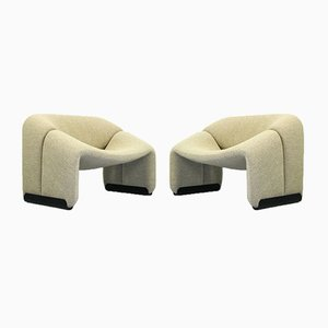 F598 Groovy Lounge Chairs by Pierre Paulin for Artifort, the Netherlands, 1970s, Set of 2