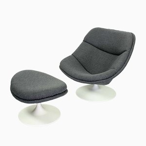 F557 Lounge Chair & Ottoman by Pierre Paulin for Artifort, 1960s, Set of 2