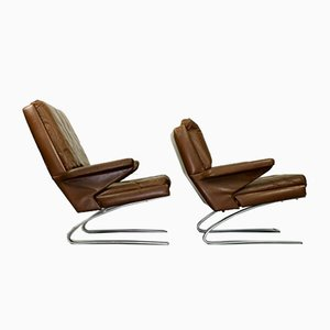 Leather Swing Chairs by Reinhold Adolf for Cor, 1970s, Set of 2