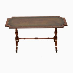 Regency Style Mahogany Leather Topped Coffee Table, 1950s