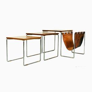 Tables Gigognes en Palissandre de Brabantia, 1970s, Set de 3