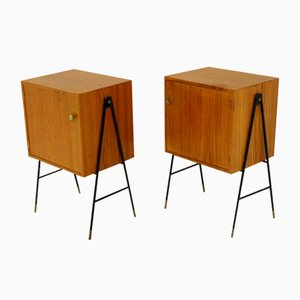 Teak Nightstands from AB Gylling & Co, 1960s, Set of 2