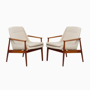 Mid-Century Swedish Lounge Chairs, Set of 2