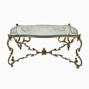 Louis XV Rococo Bronze Coffee Table, 1970s