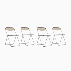 Vintage Plona Folding Chairs by Giancarlo Piretti for Castelli / Anonima Castelli, Set of 4