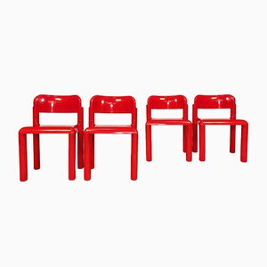 Stackable Dining Chairs by Eero Aarnio for UPO Furniture, 1970s, Set of 4