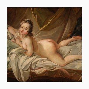 Antiker Französischer Weiblicher Akt, 19. Jahrhundert, Gemälde