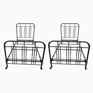 Iron Beds, 1900s, Set of 2