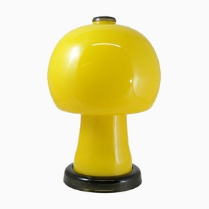 Space Age Yellow Full Glass Table Lamp, 1960s
