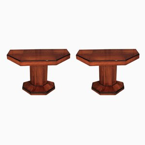 Art Deco Console Tables, 1930s, Set of 2