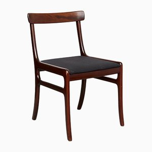 Mid-Century Mahogany Rungstedlund Chairs by Ole Wanscher for Poul Jeppesens Møbelfabrik, Set of 4
