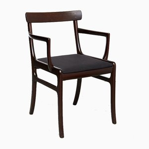 Mid-Century Mahogany Rungstedlund Chair by Ole Wanscher for Poul Jeppesens Møbelfabrik
