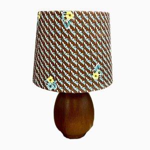 Scandinavian Teak Table Lamp, 1950s