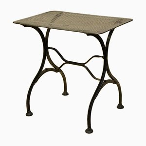 Vintage Italian Stripped Metal Garden Table, 1930s