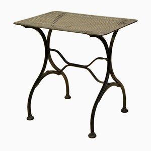 Vintage Italian Stripped Metal Garden Table, 1930s