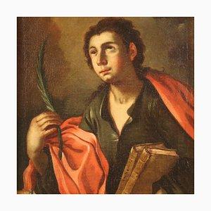 Antique Italian Religious Saint Pantaleon, 18th Century, Painting