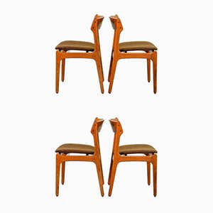 Danish Teak Dining Chairs by Erik Buch for Odense Maskinsnedkeri / O.D. Møbler, 1960s, Set of 4
