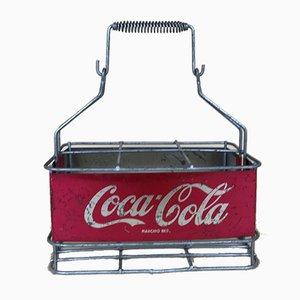 Vintage Italian Advertising Metal Coca-Cola Bottle Basket, 1960s