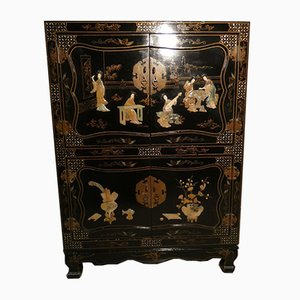 Black Lacquered Chinese Sideboard