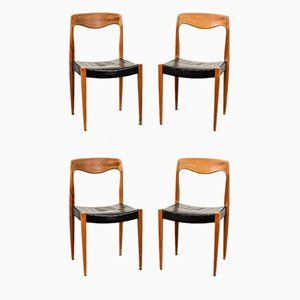 Model 71 Dining Chairs by Niels Otto Møller, 1950s, Set of 4