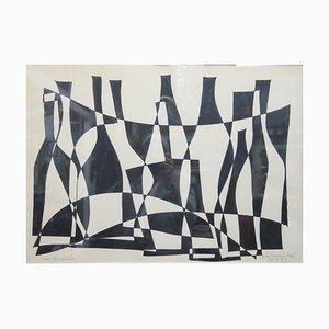 Istvan Karoly Szasz, Bottle Clutter, Tusche auf Papier, 1976