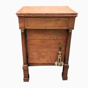 Antique Empire Walnut Bedside Table