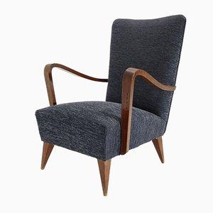 Italian Wooden Armchair, 1940s