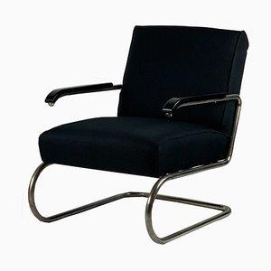 Vintage Bauhaus Stahlrohr Armlehnstuhl