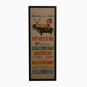 Rhapsody in Nude Theater Poster von Giustini, 1960er