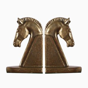 Mid-Century Brass Bookends, 1960s, Set of 2