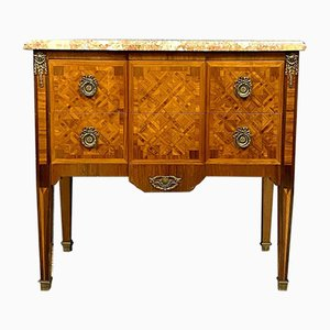 Antique Louis XVI Inlaid Wood Chest of Drawers