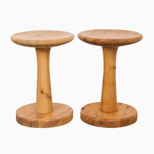 Pine Stools by Rainer Daumiller for Hirtshals, Denmark, 1970s, Set of 2