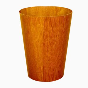 Swedish Teak Paper Basket, 1950s