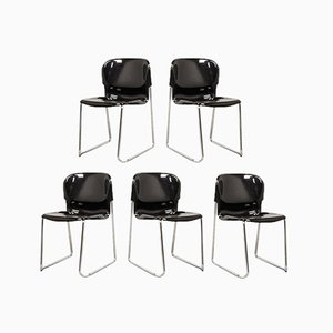 SM400 Swing Stackable Dining Chairs by Gerd Lange for Drabert, 1980s, Set of 5