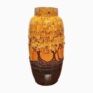 Große orange Nr. 553/38 Vase aus Scheurich, 1970er Jahre