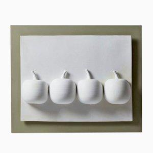 Vinteräpplen Relief aus Keramik von Vivi Calissendorff, Schweden, 2014