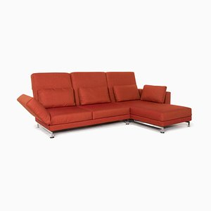 Moule Fabric Sofa in Terracotta Red from Brühl & Sippold