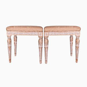 19th Century Gustavian Stools, Set of 2