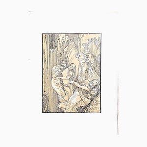 Ferdinand Bac, the Crying Women, 1922, Original Lithograph