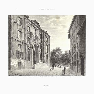 Antonio Fontanesi, Interieur de Geneve L'hopital, 1854, Lithograph