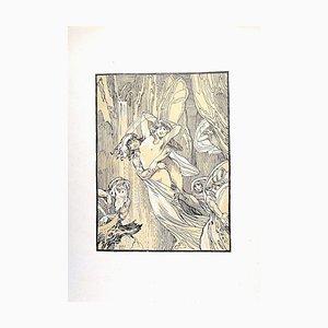 Ferdinand Bac, die weinenden Frauen, 1922, Originallithographie