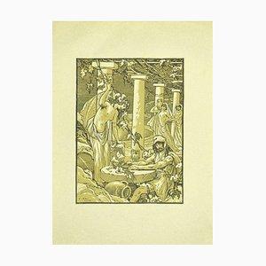 Ferdinand Bac, der Soldat und die Bacchanten, Originallithographie, 1922