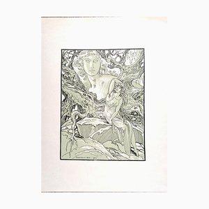 Ferdinand Bac, the Goddess, Originale Lithographie, 1923