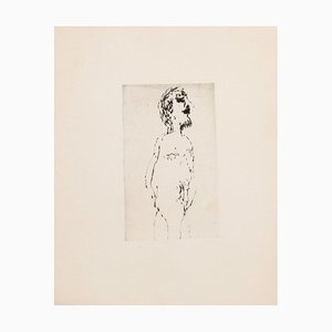 Unknown, Nude, Original Etching on Paper, 20th Century